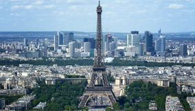 title: The Renowned Skyscraping Tour Eiffel Seen from Tour Montparnasse 56