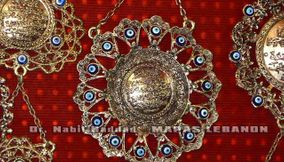 Traditional Silver Lebanese Souvenir Pendants at Shop