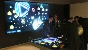 Playing and Interacting with the Multitouch Table at Grand Opening of MIM