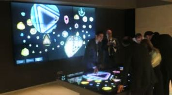 title: Playing and Interacting with the Multitouch Table at Grand Opening of MIM