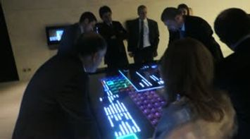 Presenting the Interactive Multitouch Table at the MIM Museum Opening Event in OCT 2013