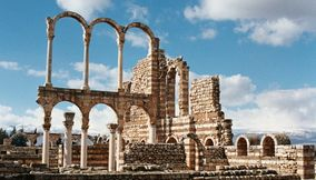 title: Amazing Lovely Postcard Shot of the Ruins of Umayyad