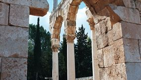 Ancient Tall Stone Archs of Anjar