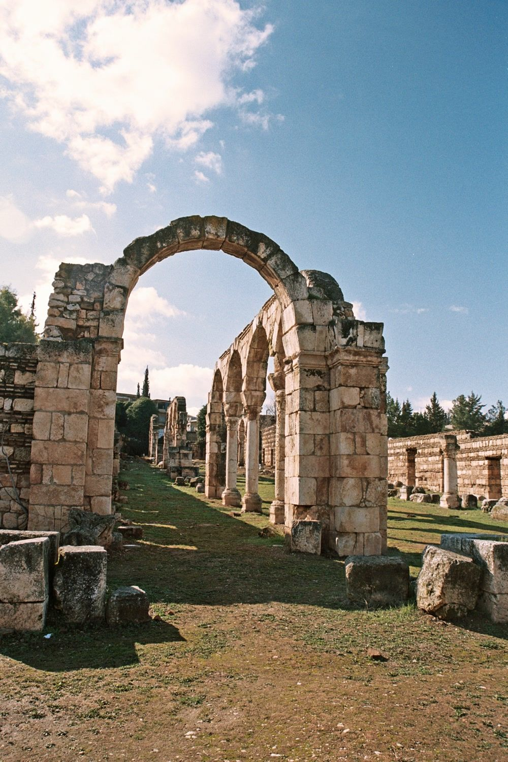 title: Anjar Arches and Stone Ruins
