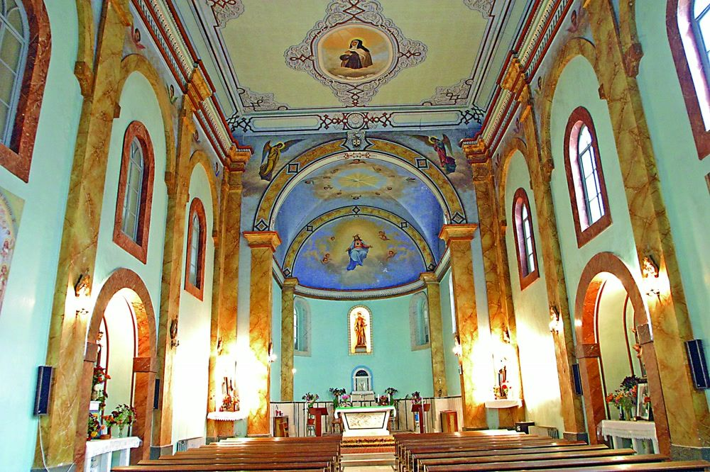 title: Beautiful Interior of the Cathedral in Bsharri Village