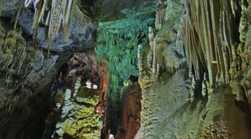 title: Blue Green Lighting in the Caves
