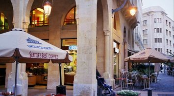 title: Cinnabon Cafe in Downtown Beirut
