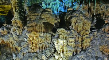 title: Cool Limestone Formations in the Grotto Caves