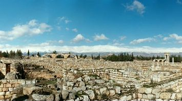 title: Cool Panorama of Anjar Site on a Lovely Sunny Day