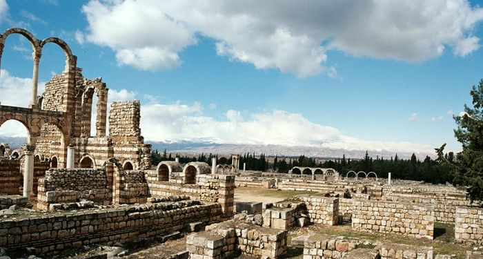 title: Fluffy White Clouds over Anjar Site