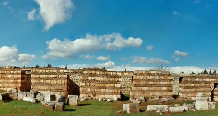 title: Historic Ruins of Anjar Panorama