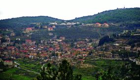 Natural Scenery of Kfarhim Village in Mount Lebanon