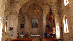 Old Interior of a Church in the Village