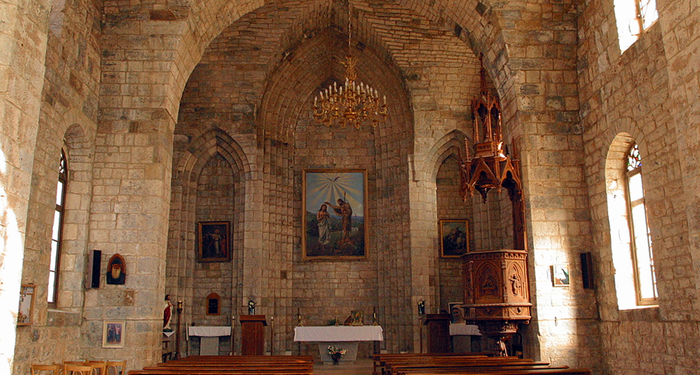 title: Old Interior of a Church in the Village