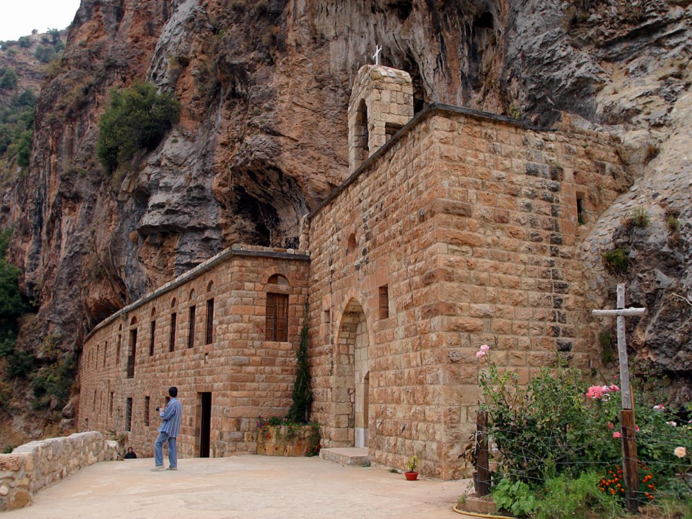 title: Old Qannoubine Church in the Qadisha Valley in Bsharri
