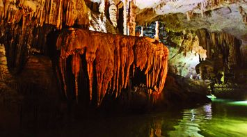 Overflowing Limestone Effect in the Caves