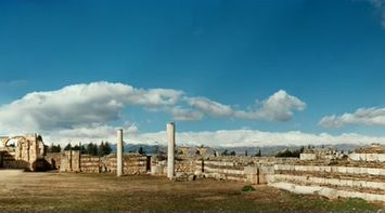 title: Panoramic View of the Historic Site