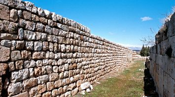 title: Picturesque Historic Umayyad City Stone Wall