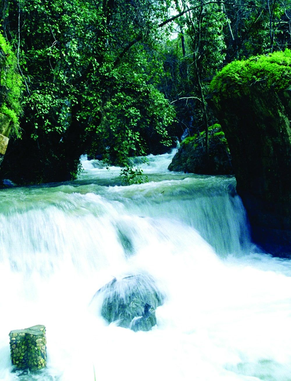 title: Picturesque Natural Waterfall Scenery of Kfarhim in Lebanon