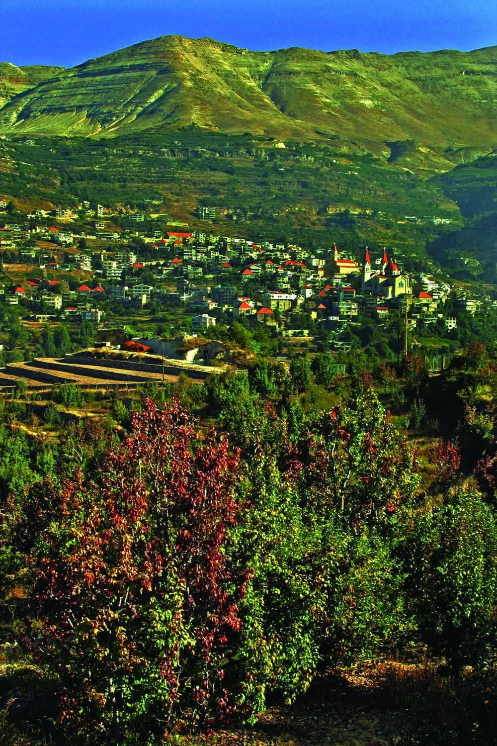 title: Picturesque Nature and Mountains of the Historic Town of Bsharri