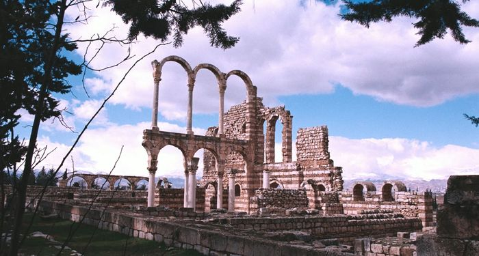 title: Ruins of Umayyad City in Anjar Town in Bekaa Valley