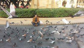 Sitting with the Pigeons in Downtown Beirut