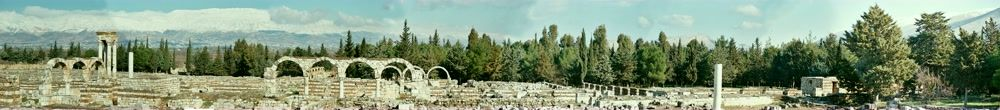 title: Thin Strip of Panorama of Anjar Ruins