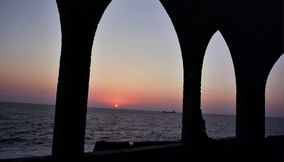 Sunset at Batroun Behind the Church