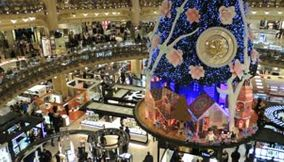 title: Awesome Video of Galeries Lafayette Christmas Tree of Swatch
