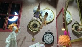 Fun Swatch Decorations with Music at the Lafayette Galleries of Paris Video