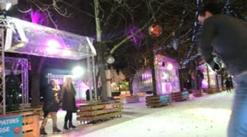 Ice Skating By The Avenue Des Champs Elysees Christmas Market