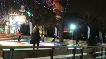 title: Iceskating in Paris by the Champs Elysees Avenue Video