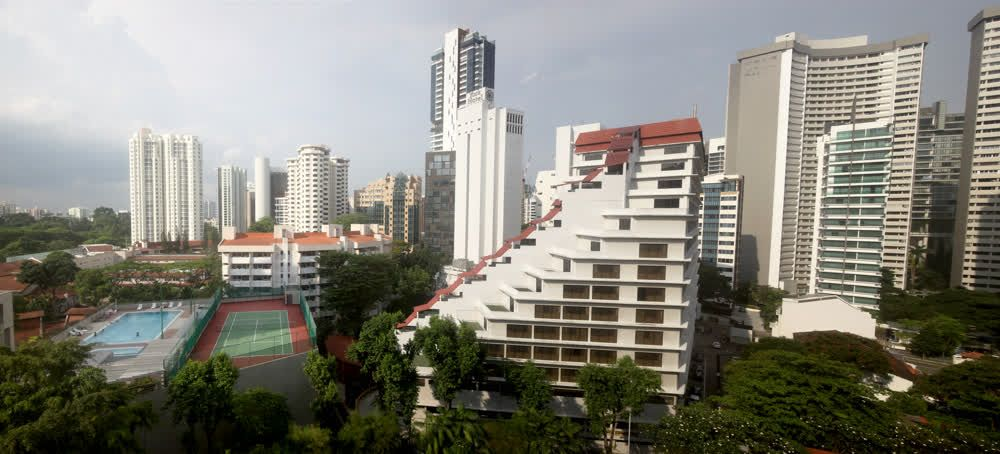 title: Panorama view from Grand Hayat hotel Singapore