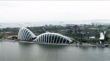 Discover Singapore panoramic view marina bay sands