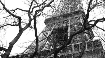 title: Eiffel Black and White