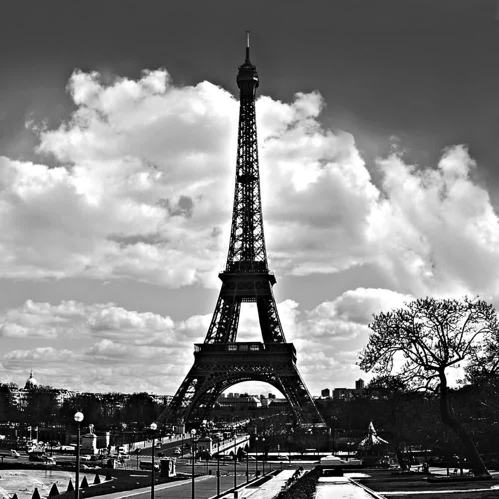 title: Tour Eiffel  view from Trocadero