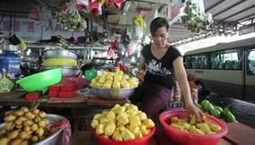 Vietnam Ho chi minh Fruits and Motorbikes