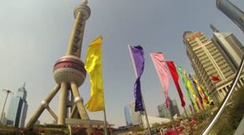 The new Shanghai around the Oriental Pearl Tower