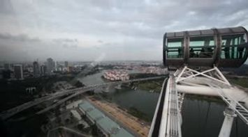 World s largest observation wheel Singapore flyer