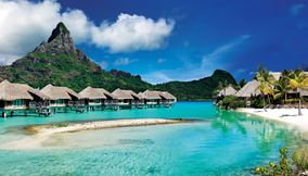 Bora Bora Island in the South Pacific
