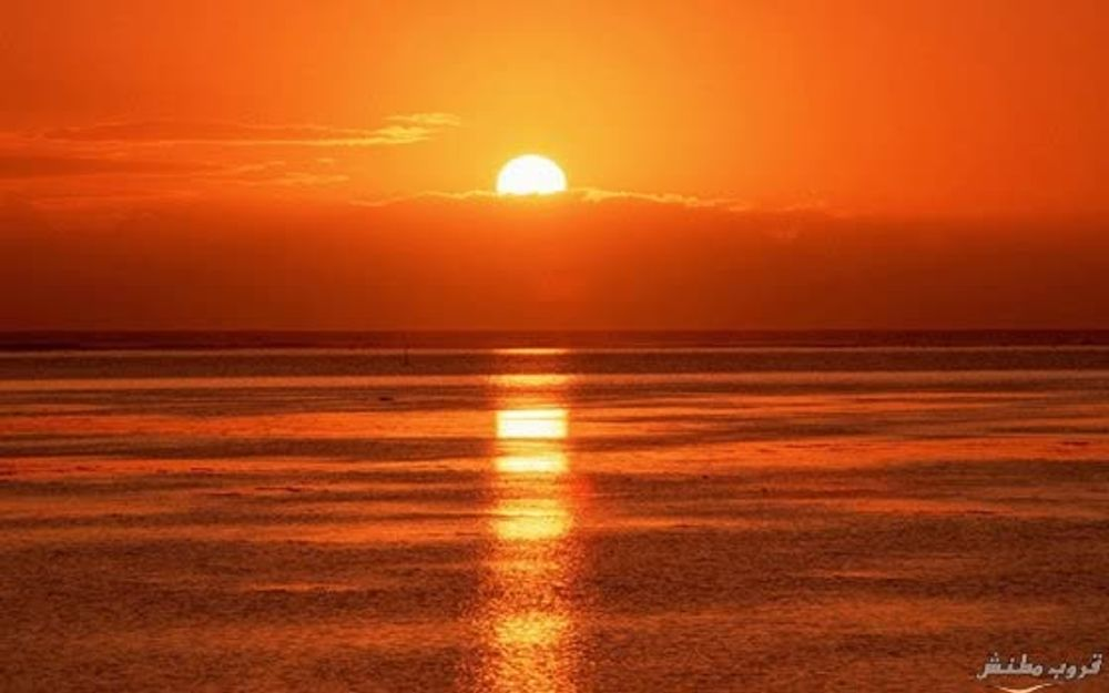 title: Great pictures of the sunset in the sea