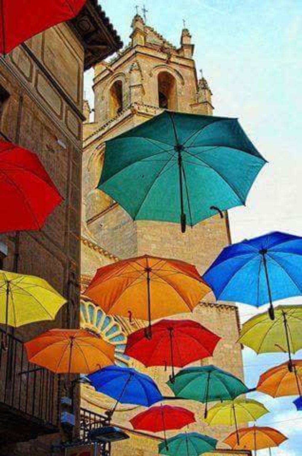 title: Umbrella street in Agueda Portugal