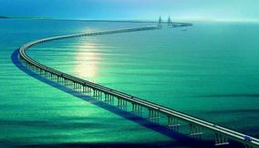 World s longest sea bridge across Jiaozhou China