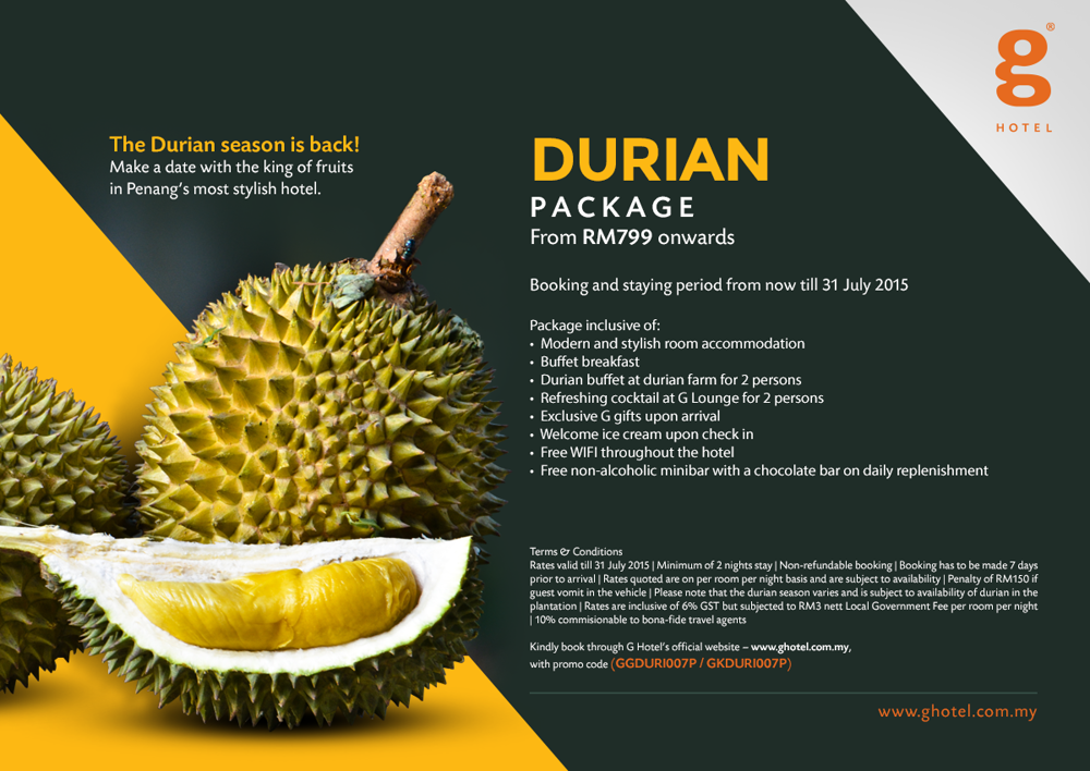 title: G Hotel Durian Package