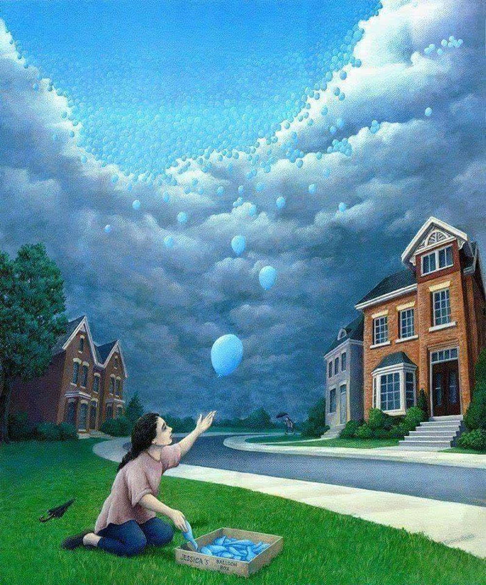 Rob Gonsalves illusion paintings.. Amazing work !