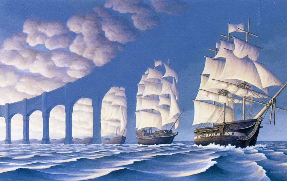 Rob Gonsalves illusion paintings.. Amazing work