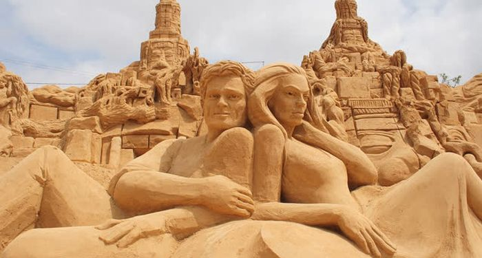 title: Sand Sculptures Amazing Sand Art India