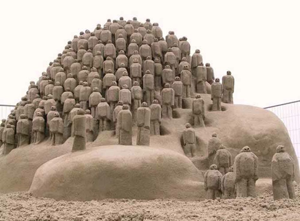 Sand Sculptures ,Amazing Sand Art,India  !