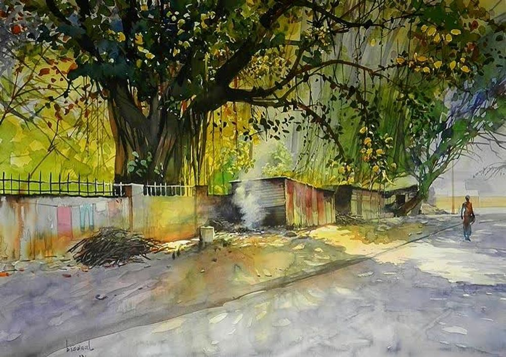 Watercolor paintings by Bijay Biswal, India