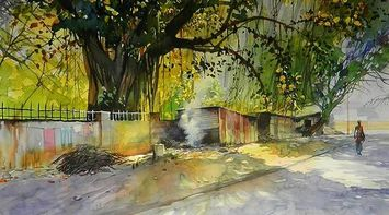Discover India Watercolor paintings by Bijay Biswal India